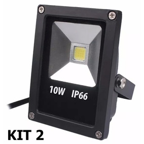 Kit 2 Refletor Led Holofote 10w Prova D