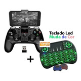Controle Ipega Pg-9076 3in1 Tv Box +mini Teclado Led