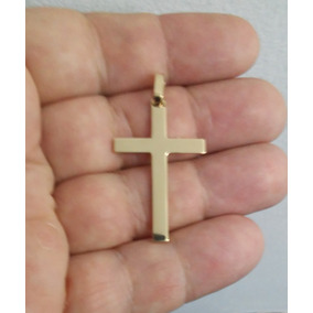 fa6043a09646b Estiloso Pingente Cruz Ouro Maciço 18k (750) 4 Cm 4 Gramas