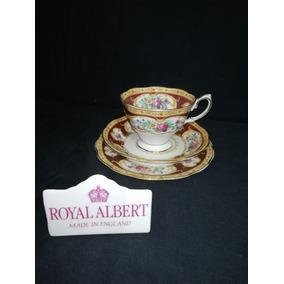 Royal Albert Trio Xícara De Chá Lady Hamilton Bone China