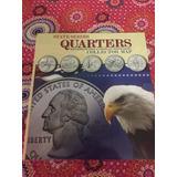 Mapa Coleccion Monedas 25 Centavos Americanos