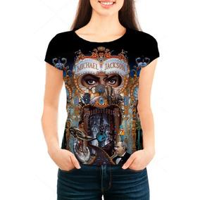 Camiseta Babylook Feminina Michael Jackson Dangerous