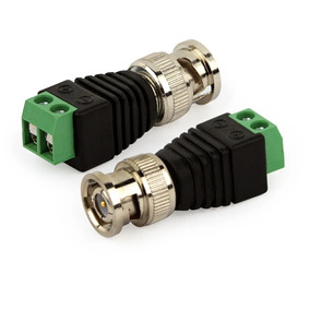Conector Bnc Macho Borne Cftv P4 Adaptador Bnc P4 Kit 10