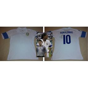 Jersey Brasil Centenario Fifa Firmada Ronaldinho Certificada a00b001031a56