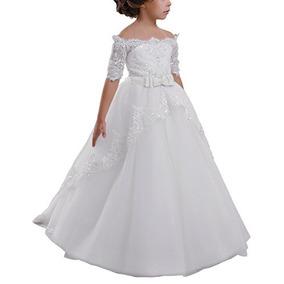 Carat Vestido De Primera Comunión Elegante De Encaje Para
