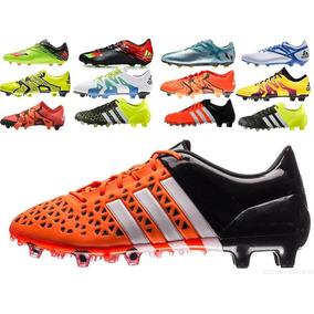 Chuteira Adidas Messi 16.3 Fg Campo Preta Verde Original - Chuteiras ... f3c48a7c9fbf2