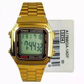 d50d7bf0dd0 Vintage Dourado Relogio Casio Unisex A178 Retro - Relógios De Pulso ...