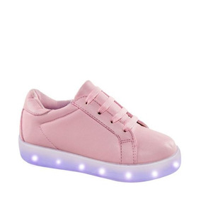 08117bf26a9 Tenis Casual Urban Shoes 7200 Con Luces Led Niña Rosa