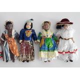 Colección Muñecas Del Mundo Porcelana Auténtica (4 Modelos)