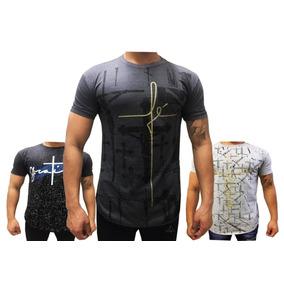 Revenda 05 Camisa Masculina Longline Estampadas Oversized