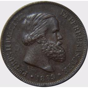 Brasil 10 Réis 1869 Linda Peça