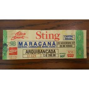 Ingresso Show Sting Maracanã Nov. 1987