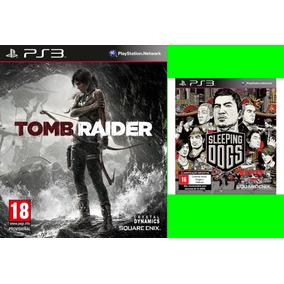 Tomb Raider + Sleeping Dogs Ps3 Psn Comprou Chegou Promoçao