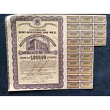 Apólice Emprest. Obras E Invest. Estado Rio Grande Sul 1949