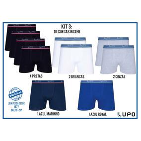 Kit 10 Cueca Lupo Box Boxer Cotton Algodão Original
