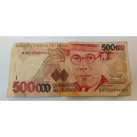 Cédula Antiga De 500.000 Cruzeiros