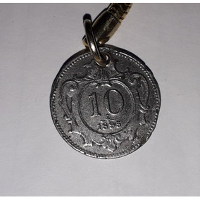 Moeda 10 Heller Áustria 1895 Franz Joseph I Rara