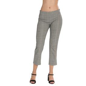 Pantalones Dama Cuadros Moda