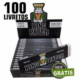 Kit 100 Seda Smoking King Paper Narguile Cigarro Eletronico