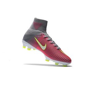Chuteira Nike Mercurial Superfly V Laranja cinza neon Suarez d98eb8ac1f70e