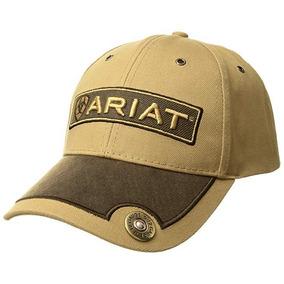 Gorra Ariat 1501308 Ocre Con Parte De Visera Y Logo Café