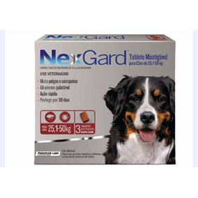 Nexgard 3 Tabletes Antipulgas E Carrapatos 25kg A 50kg
