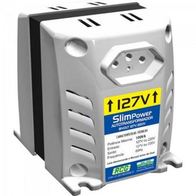 Autotransformador 127/220vac 100va Slim Power Branco Rcg