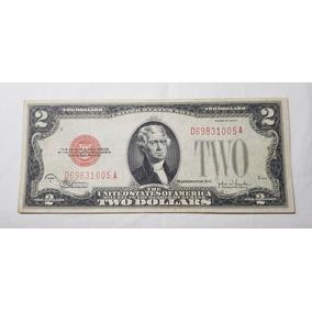 Nota De 2 Dólares 1928 F Selo Vermelho - Eua