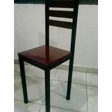 ¡sillas De Madera Y Metal Nuevas!