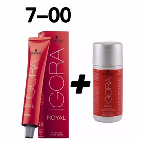 Tinta Igora Royal 7-00 Louro Médio Natural Extra + Ox 20