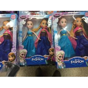 Set Barbies Frozen 2 X 1 Muñecas Niñas Juguete