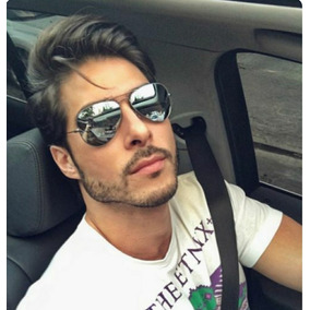 Óculos Adulto Juvenil Masculino Espelhado Aviador Tendencia · R  39 56 266923dacb
