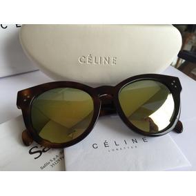 Óculos De Sol Celine Cl41061f s ,tartaruga Marrom. 061cd8a4c0
