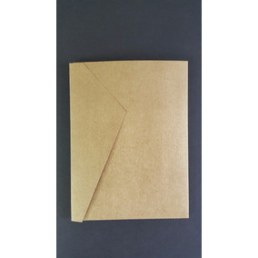 10 Sobres Kraft Folder Invitaciones Cart. 205 Gr. 13.5x18 Cm