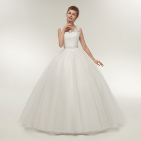 Vestido Noiva Princesa Evangélica Cristã Branco Renda 12x