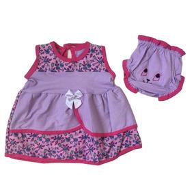 Vestido Infantil Recem Nascido Roupas De Bebe Menina