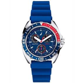 Relógio Nautica Sports Ring N07578 Watch Azul Promoção