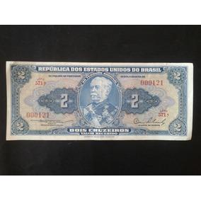 Cédula 2 Dois Cruzeiros República Dos Estados Unidos Do Br