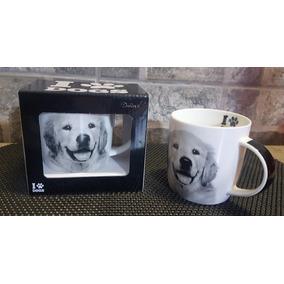 Caneca Porcelana Decorada I Love Dogs 320ml