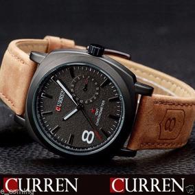 Reloj Curren Original Hombre Moda Cuero Cuarzo,0319c1