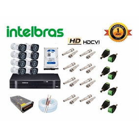 Kit 08 Câmeras De Segurança Intelbras Hd