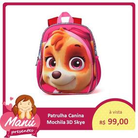Mochila Infantil Skye Ou Chase Patrulha Canina 3d Barato
