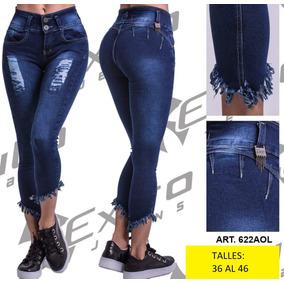 Jeans De Mujer Con Rotura Levanta Cola! Talles: 36 Al 46