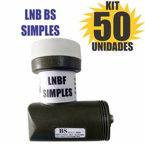 Kit 50 Peças Lnb Simples Universal Brasilsat Semi Novo