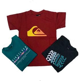 Kit 03 Camisetas Varias Marcas Infantil E Juvenil Menino. 2363e2ec9c2d3