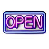 Placa De Led Neon Flex 50x25cm Open Letreiro Luminoso Aberto