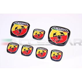 Kit 7 Adesivos Emblemas Abarth Fiat Bravo / Frete Único