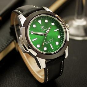Reloj Elegante De Cuarzo Marca Yazole Casual Blackgreen