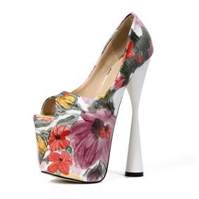 Sapato Feminino Plataforma Luxo - Frete Grátis