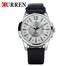 Relógio Masculino Pulseira De Couro Curren - Modelo De Luxo